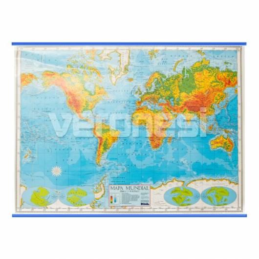 Mapa Fis./pol. Planisferio