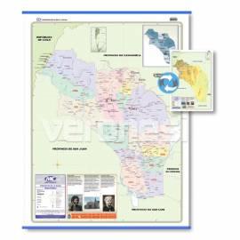 Mapa Fis./pol. Doble Faz La Rioja 72x102 Cm.