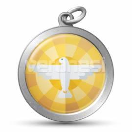 Medalla Resinada Espiritu Santo 32 Mm