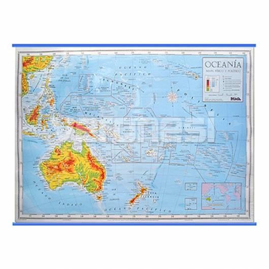 Mapa Fis./pol. Oceania