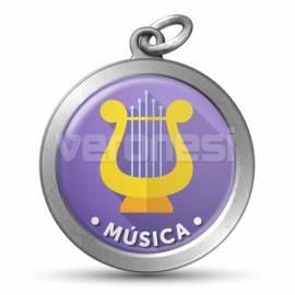 Medalla Resinada Musica 32 Mm