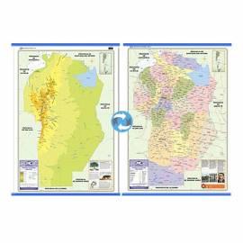 Mapa Fis./pol. Doble Faz Cordoba 72x102 Cm.