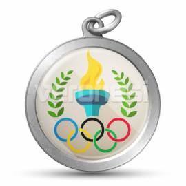 Medalla Resinada Olimpica 32 Mm