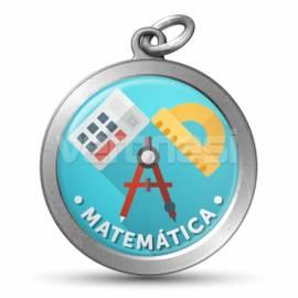 Medalla Resinada Matematica 32 Mm