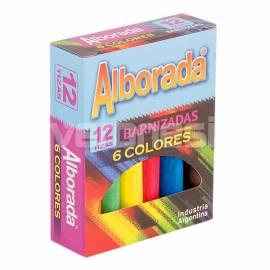 Tiza Colores Surtidos X 12 Alborada