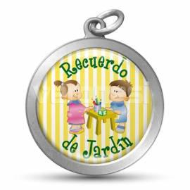 Medalla Resinada Jardin Salita 32 Mm