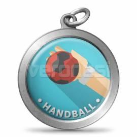 Medalla Resinada Handball 32 Mm