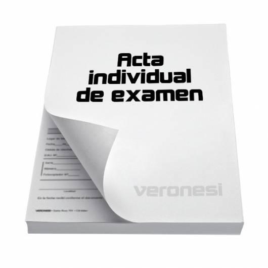 Acta Individual Examen F.884 B X 50