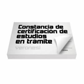 Constancia Certif.est.en Tramite F.866 A X 50