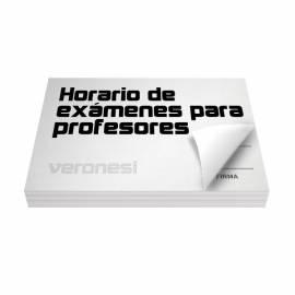 Horario Examen Profesor F.885 X 50