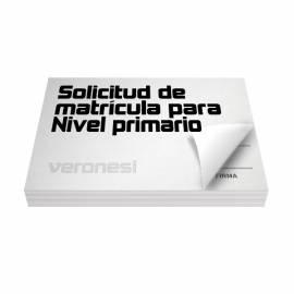 Solicitud Matricula Primario F.195 X 50