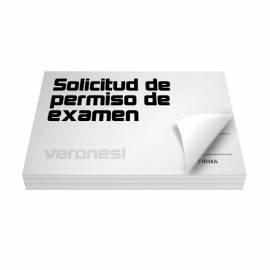 Solicitud Permiso Examen F.889 X 50