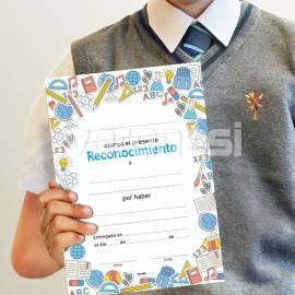 Diploma Reconocimiento Dibujos