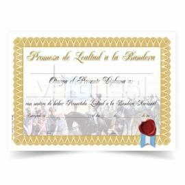Diploma Promesa Belgrano Dorado