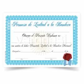 Diploma Promesa Bandera