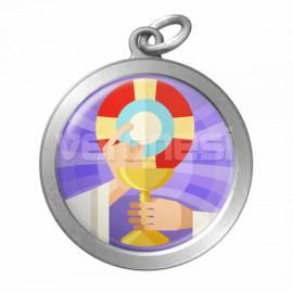 Medalla Resinada Comunion 32 Mm