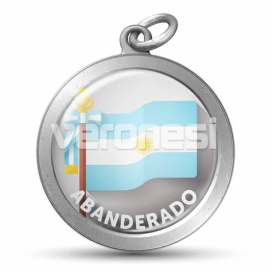 Medalla Resinada Abanderado Argentina 32 Mm