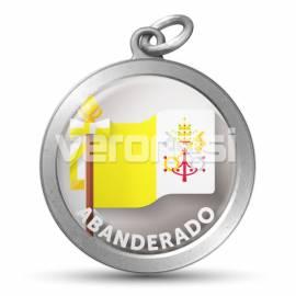 Medalla Resinada Abanderado Papal 32 Mm