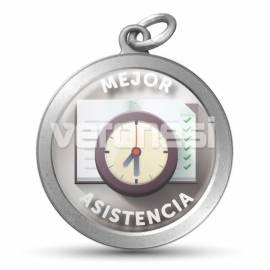 Medalla Resinada Mejor Asistencia 32 Mm
