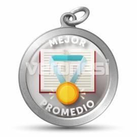 Medalla Resinada Mejor Promedio 32 Mm